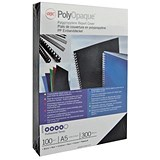 Image of GBC PolyCovers Opaque Binding Covers / 300 micron / Black / A4 / Pack of 100