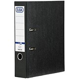 Image of Elba Rado A4 Lever Arch Files / Portrait / Slotted Cover / 80mm Spine / Black / Pack of 10
