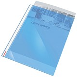 Image of Esselte Coloured Polypropylene Multipunched Pockets / Top-opening / A4 / Blue / Pack of 10