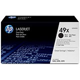 Image of HP 49X Black Laser Toner Cartridge (Twin Pack)