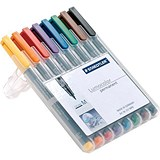 Image of Staedtler 317 Lumocolor Pen / Permanent / Medium / Assorted Colours / Wallet of 8