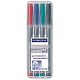Staedtler 316 Lumocolor Pen / Non-permanent / Fine / Assorted Colours / Wallet of 4