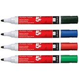 5 Star Drywipe Marker / Bullet Tip / Assorted Colours / Pack of 12