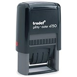 "Image of Trodat EcoPrinty 4750 Self-Inking Word & Date Stamp / ""Paid by BACS on"" / Red & Blue"