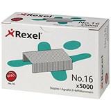 Image of Rexel No. 16 Staples (6mm) - Pack of 5000