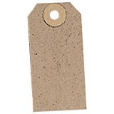 Image of Unstrung Tags / 70x35mm / Buff / Pack of 1000