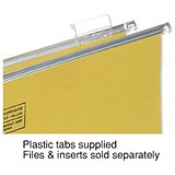 5 Star Clenched Bar Suspension File Tabs / Clear / Pack of 50