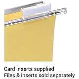 Image of 5 Star Clenched Bar Suspension File Card Inserts / White / Pack of 50