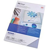 Image of GBC Superclear Report Covers / 150 micron / Clear / A4 / Pack of 50