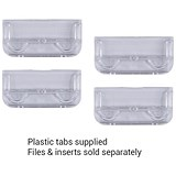 Rexel CrystalFiles Suspension File Tabs / Clear / Pack of 50