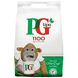 PG Tips 1 Cup Pyramid Tea Bags - Pack of 1100