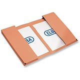 Image of Elba Twin Pocket Wallets / Foolscap / Orange / Pack of 25