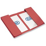Image of Elba Twin Pocket Wallets / Foolscap / Red / Pack of 25