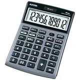 Image of Aurora Calculator Desktop Multifunction 12 Digit 3 Key Memory Tilted 101x150x23mm Ref DT661