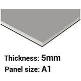 Image of Foamboard / A1 / Black & Grey / 5mm Thick / Box of 10