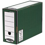 Fellowes Bankers Box Premium Transfer Files / Foolscap / Green & White / Pack of 10