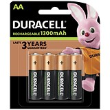 Image of Duracell Rechargeable Battery / Accu NiMH 1300 mAh / AA / Pack of 4