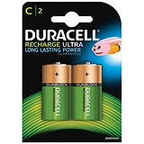 Image of Duracell Rechargeable Battery / Accu NiMH 2200mAh / C / Pack of 2