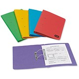 Image of Elba Bright Foolscap Transfer Spring Files - 320gsm - Assorted Colours - Pack of 10