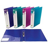 Image of Concord Executive Ring Binder / 2 O-Ring / 40mm Spine / 25mm Capacity / A4 / Assorted / Pack of 10