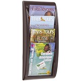 Fast Paper Wall-Mounted Literature Holder / 4 x A4 Pockets / Black