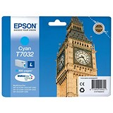 Image of Epson T7032 Cyan Inkjet Cartridge