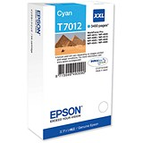 Image of Epson T7012 High Capacity Cyan Inkjet Cartridge
