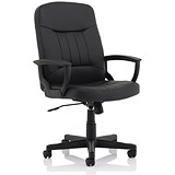 Image of Trexus Leather High Back Managers Chair - Black
