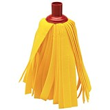 Cloth Mop Head Refill / Thick Absorbent Strands / Red and Rainbow