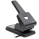 Image of Rapesco 865P Extra Heavy-duty 2-Hole Punch / Black / Punch capacity: 63 Sheets