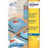 Avery CD/DVD Inkjet Case Cover and Tray Insert / 151x121mm and 151x118mm / J8435-25 / Pack of 25