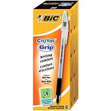 Image of Bic Cristal Grip Ball Pen / Clear Barrel / Black / Pack of 20