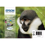 Image of Epson T0895 DURABrite Inkjet Cartridge Multipack - Black, Cyan, Magenta and Yellow (4 Cartridges)