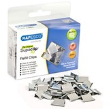 Image of Rapesco Supaclip 40 Refill Clips / Stainless Steel / Pack of 200