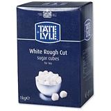 Image of Tate and Lyle White Rough-Cut Sugar Cubes - 1kg