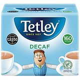 Tetley High Quality Decaffeinated Tea Bags - Pack of 160