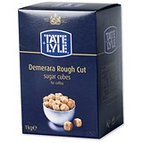 Image of Tate and Lyle Demerara Rough-Cut Sugar Cubes - 1kg