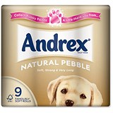 Image of Andrex Toilet Rolls / Natural Pebble / 9 Rolls