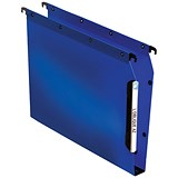 Image of Elba Ultimate Lateral Files / Plastic / 330mm Width / 30mm Square Base / A4 / Blue / Pack of 25