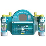Image of Wallace Cameron Emergency Eyewash Station / Mirror / 8x Eyepods / 2x Eyepads / 2x Eyewash / Large