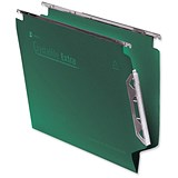 Image of Rexel CrystalFiles Extra Lateral Files / Polypropylene / 330mm Width / V Base / Green / Pack of 25