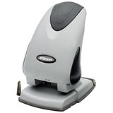 Image of Rexel Precision P265 Heavy-duty 2-Hole Punch / Silver and Black / Punch capacity: 65 Sheets
