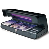 Image of Safescan Counterfeit Detector 50 UV Checker W206xD102xH88mm Black Ref 131-0399