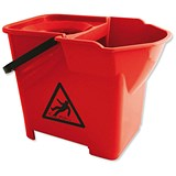 Image of Bentley Heavy Duty Mop Bucket / 16 Litre / Red