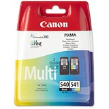 Canon PG-540/CL-541 Black and Colour Inkjet Cartridges (2 Cartridges)