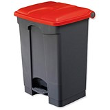 Image of EcoStep Bin / 45 Litre / Grey With Red Lid