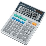 Aurora Semi-desk Calculator / 8 Digit / 3 Key / Battery/Solar Power / Grey