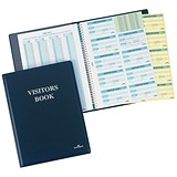 Image of Durable Leather Look Visitors Book - 300 Badge Inserts