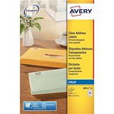 Image of Avery Inkjet Mini Labels / 65 per Sheet / 38.1x21.2mm / Clear / J8551-25 / 1625 Labels