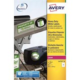 Image of Avery Heavy Duty Laser Labels / 4 per Sheet / 99.1x139mm / White / L4774-20 / 80 Labels